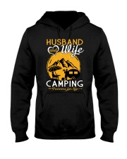 Husband and wife best camping partners for life Hooded Sweatshirt front