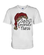 Santa's favorite Nurse V-Neck T-Shirt tile