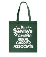 Santa's favorite Rural Carrier Associate Tote Bag thumbnail