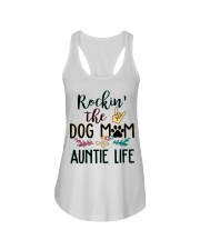 Rockin the dog mom and auntie life Ladies Flowy Tank thumbnail