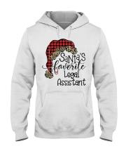Santa's favorite Legal Assistant Hooded Sweatshirt front