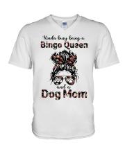 bingo queen V-Neck T-Shirt tile