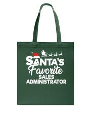 Santa's favorite Sales Administrator Tote Bag thumbnail