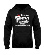 Santa's favorite Sales Administrator Hooded Sweatshirt front