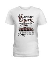 pontoon queen Ladies T-Shirt front