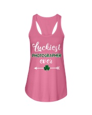 Luckiest Photographer Ever Ladies Flowy Tank thumbnail