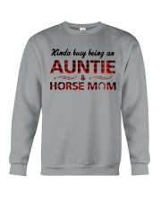 Kinda busy being an Auntie and Horse Mom Crewneck Sweatshirt tile