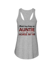 Kinda busy being an Auntie and Horse Mom Ladies Flowy Tank thumbnail