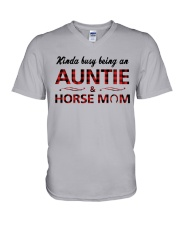 Kinda busy being an Auntie and Horse Mom V-Neck T-Shirt thumbnail
