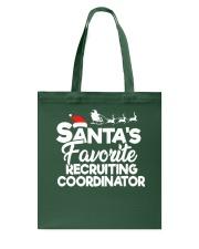 Santa's favorite Recruiting Coordinator Tote Bag thumbnail