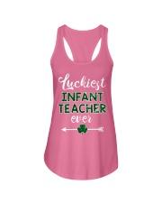 Luckiest Infant Teacher Ever Ladies Flowy Tank thumbnail
