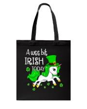 A wee bit irish today Unicorn Tote Bag thumbnail