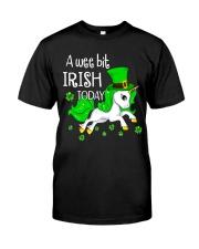 A wee bit irish today Unicorn Classic T-Shirt thumbnail