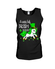 A wee bit irish today Unicorn Unisex Tank thumbnail