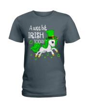 A wee bit irish today Unicorn Ladies T-Shirt tile