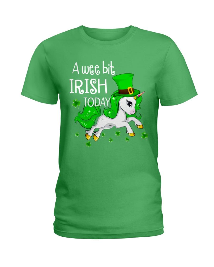 A wee bit irish today Unicorn Ladies T-Shirt
