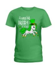 A wee bit irish today Unicorn Ladies T-Shirt front