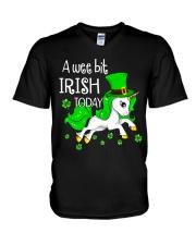 A wee bit irish today Unicorn V-Neck T-Shirt thumbnail