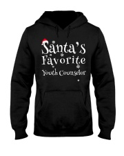 Santa's favorite Youth Counselor Hooded Sweatshirt front