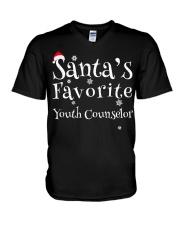 Santa's favorite Youth Counselor V-Neck T-Shirt thumbnail