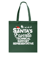 Santa's favorite Technical Support Representative Tote Bag thumbnail