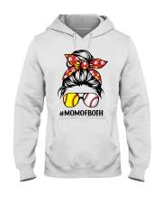 Mom of both Hooded Sweatshirt front