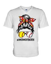 Mom of both V-Neck T-Shirt tile