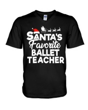 Santa's favorite Ballet Teacher V-Neck T-Shirt thumbnail