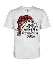 Santa's favorite Correctional Officer V-Neck T-Shirt tile