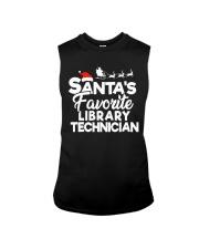 Santa's favorite Library technician Sleeveless Tee thumbnail