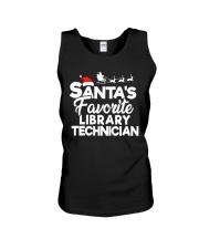 Santa's favorite Library technician Unisex Tank thumbnail