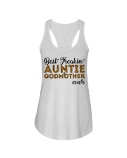 Best Freakin' Auntie and Godmother Ever Ladies Flowy Tank thumbnail