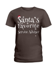 Santa's favorite Service Advisor Ladies T-Shirt thumbnail