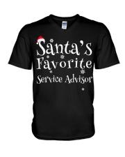 Santa's favorite Service Advisor V-Neck T-Shirt thumbnail