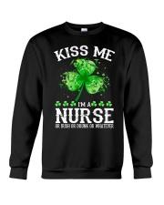 Kiss me - I'm a Nurse Crewneck Sweatshirt thumbnail