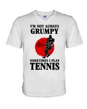 Grumpy Tennis V-Neck T-Shirt thumbnail