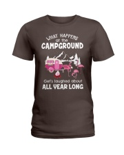 What happens at campground Ladies T-Shirt thumbnail