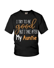 Auntie and Niece try to be good Youth T-Shirt front