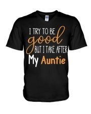 Auntie and Niece try to be good V-Neck T-Shirt thumbnail