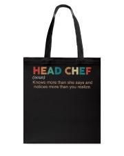Vintage Head Chef Tote Bag thumbnail