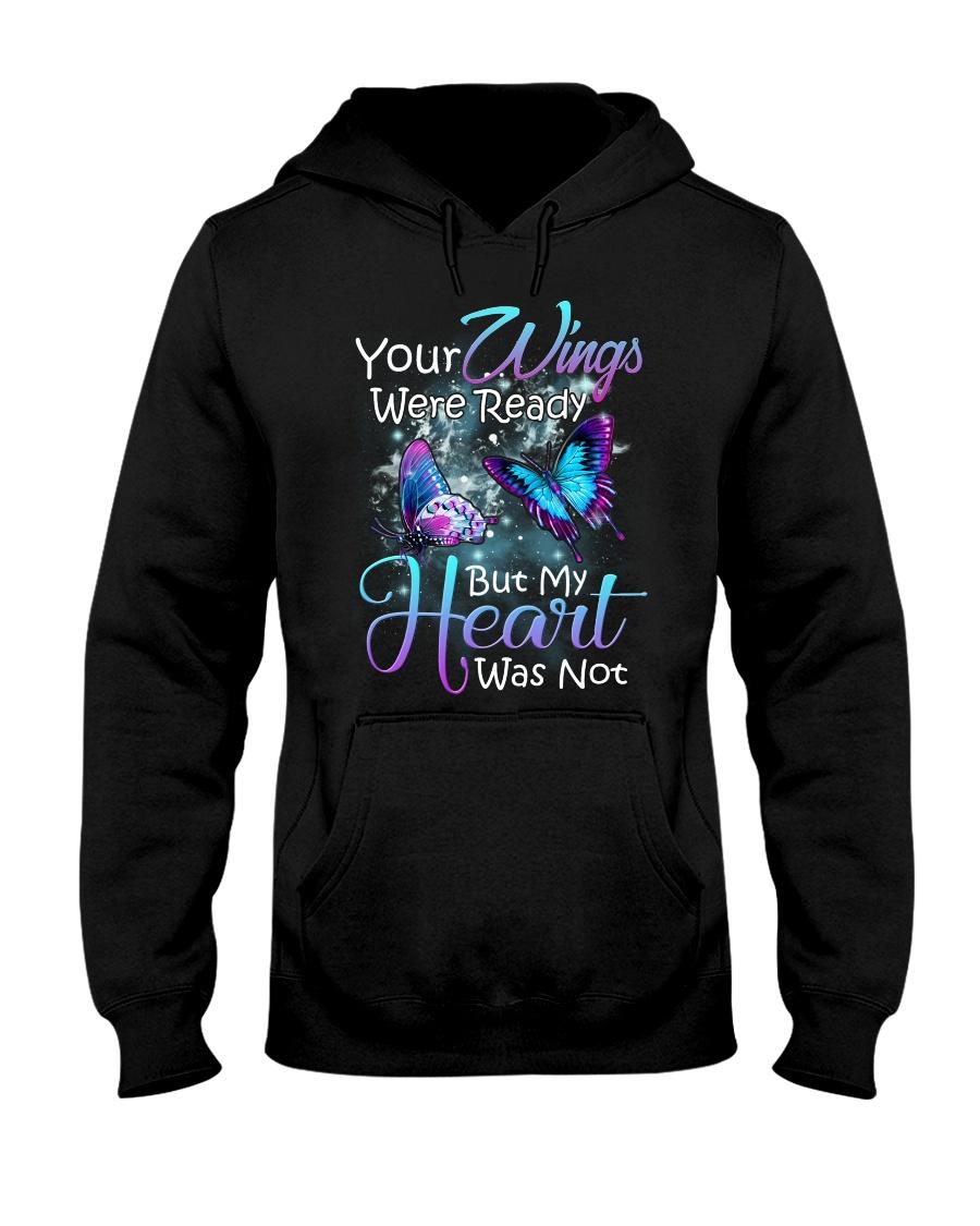 In loving memory angel butterfly Hooded Sweatshirt