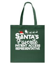 Santa's favorite Patient Access Representative Tote Bag thumbnail