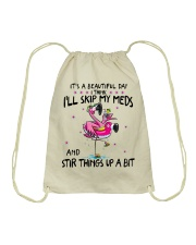 Funny Flamingo lovers Drawstring Bag tile