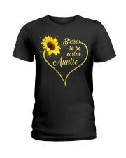 Blessed Auntie Sunflower Ladies T-Shirt front