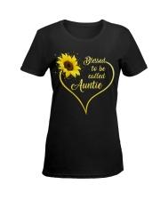 Blessed Auntie Sunflower Ladies T-Shirt women-premium-crewneck-shirt-front