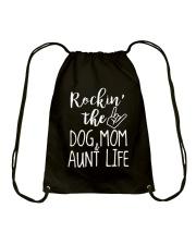 Puppy Dog Mom and Aunt Life Drawstring Bag thumbnail