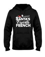 Santa's favorite French Hooded Sweatshirt front