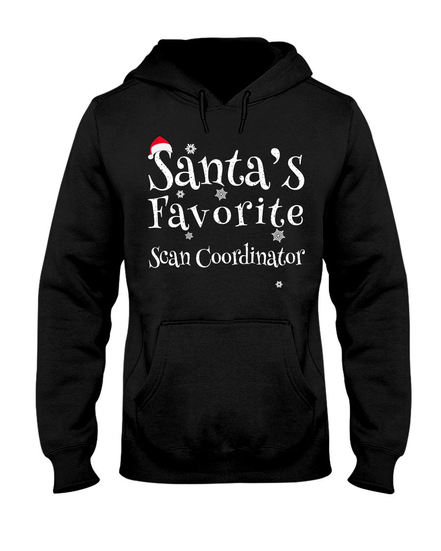 Santa's favorite Scan Coordinator Hooded Sweatshirt