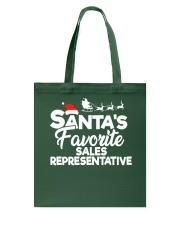 Santa's favorite Sales Representative Tote Bag thumbnail