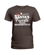 Santa's favorite Sales Representative Ladies T-Shirt thumbnail